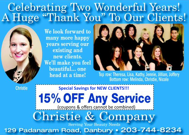 Celebrating 2 years of service!  15 percent discount!
